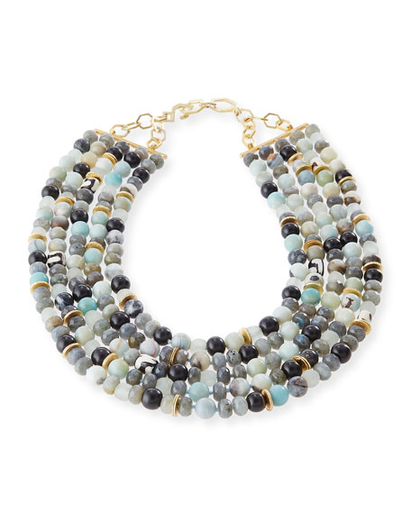 Five-Strand Amazonite Beaded Necklace