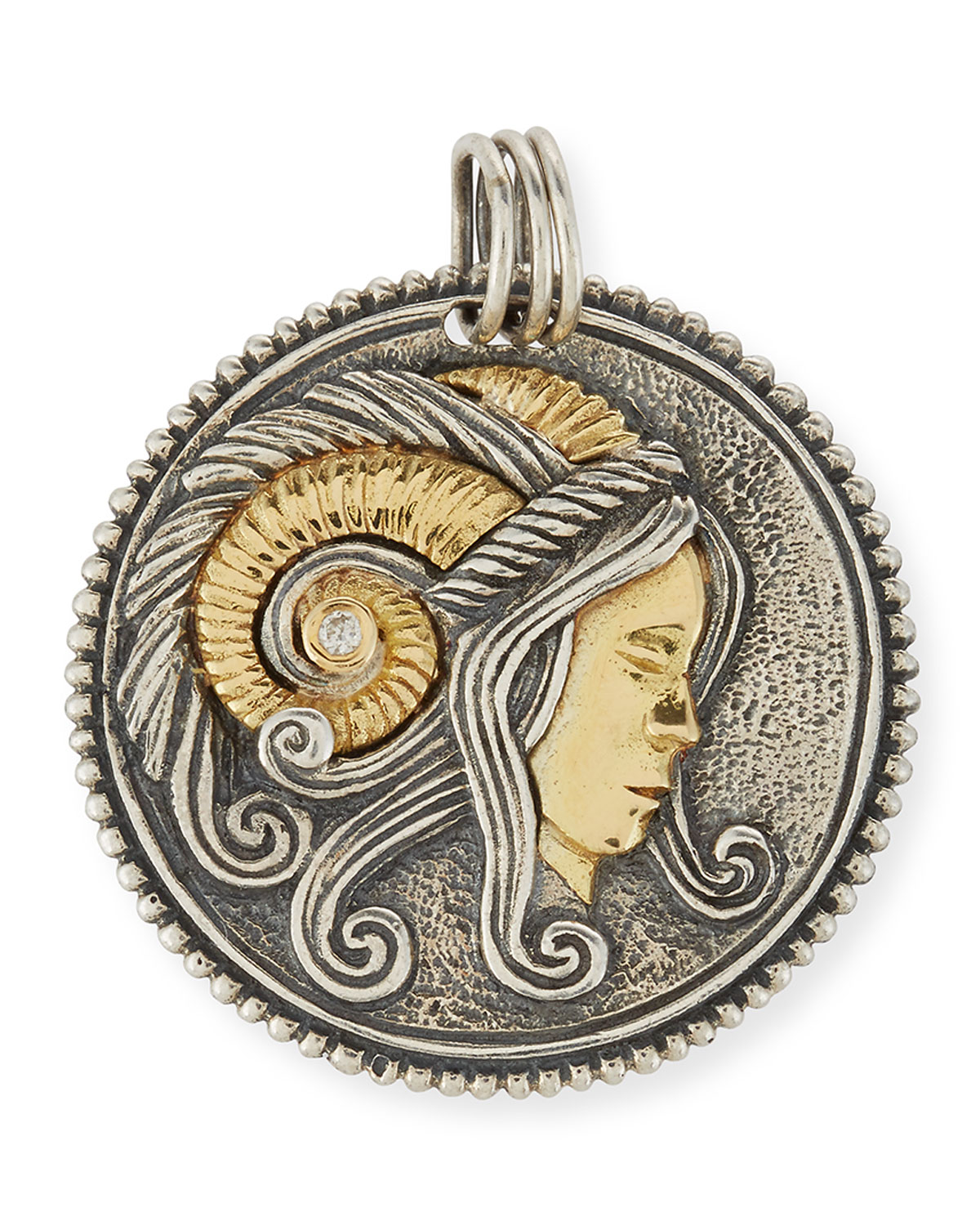 Konstantino Scorpio Carved Zodiac Pendant with Diamonds axmeJa2qNR