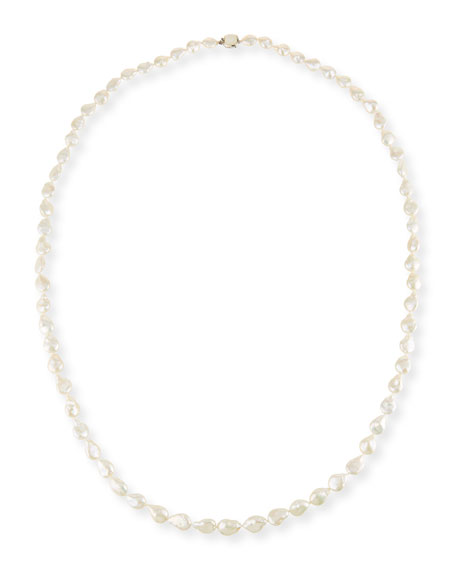 Stephen Dweck Graduated Pearl Single-Strand Necklace, 34