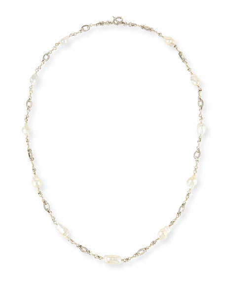 Baroque Pearl Necklace, 35""