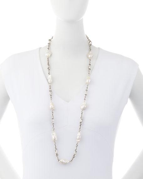 """Baroque Pearl Necklace, 37"""""""