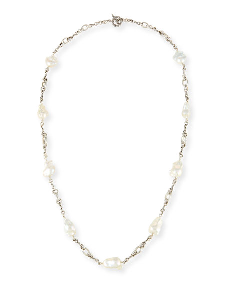 Stephen Dweck Mixed Bead & Pearl Necklace, 34