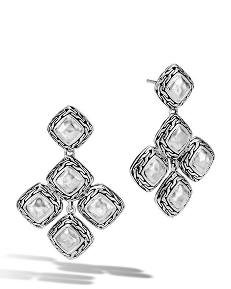 John Hardy Classic Chain Heritage Quadrangle Earrings