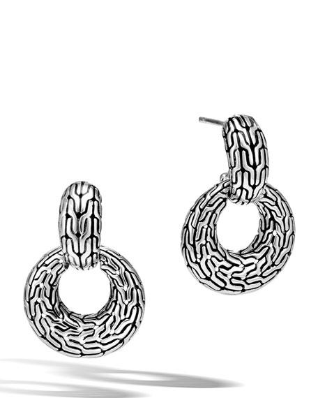 John Hardy Classic Chain Silver Drop Earrings