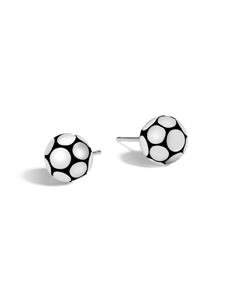 Medium Dot Sterling Silver Ball Earrings
