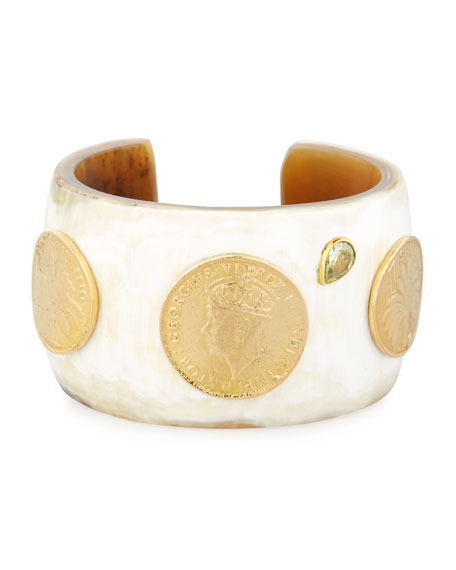 Mpenzi Light Horn, Coin & Crystal Cuff