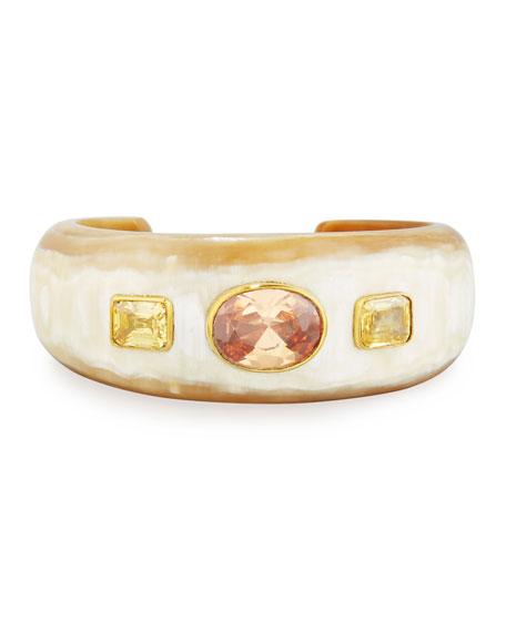 Ashley Pittman Uhuni Light Horn & Crystal Cuff Bracelet KS473L6VD
