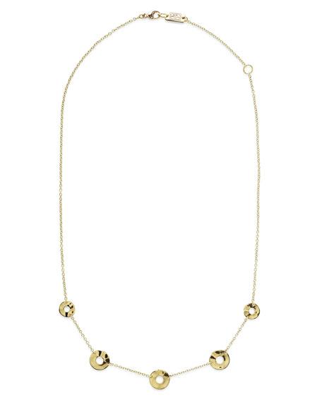 Ippolita 18K Senso&#153 Disc Five-Station Necklace, 18
