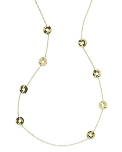 18K Senso&#153 Disc Station Necklace, 37