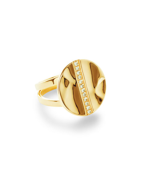 Ippolita 18K Senso&#153 Disc Ring with Diamonds