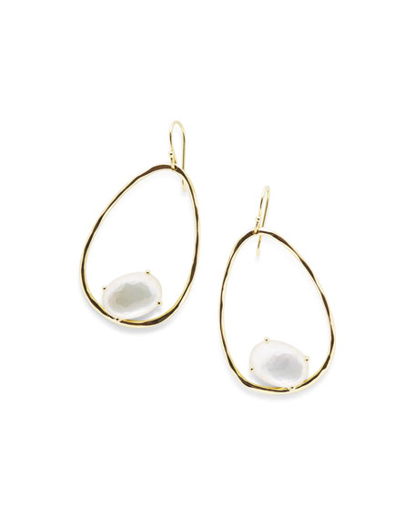 Ippolita 18K Rock Candy Tipped Oval Wire Earrings