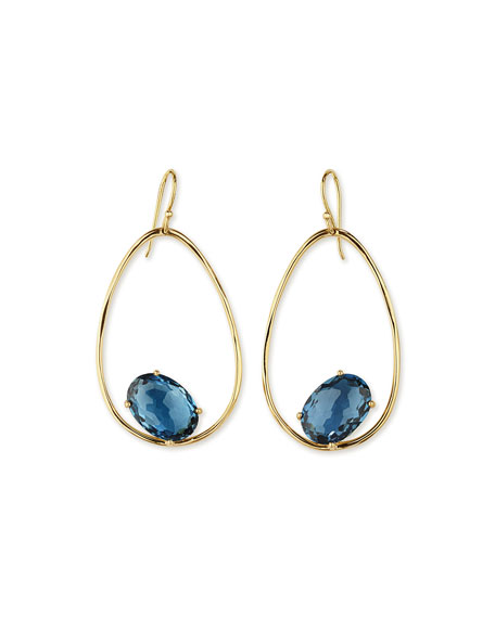 Ippolita 18K Rock Candy Tipped Oval Wire Earrings