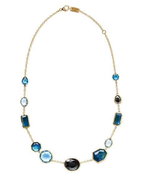Ippolita 18K Rock Candy Mixed-Set Necklace in Steel