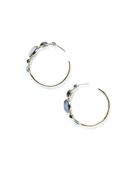 18K Rock Candy Gelato #3 Hoop Earrings in Midnight Rain