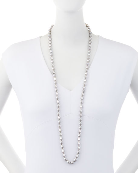 Small Baroque Pearl Necklace, 34""