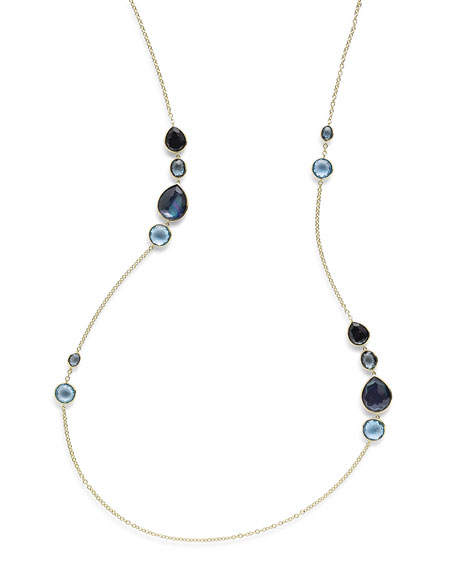 Ippolita 18K Rock Candy Gelato Grouped Station Necklace