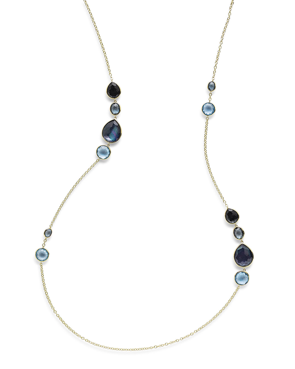 Ippolita 18K Rock Candy Gelato Grouped Station Necklace, 37