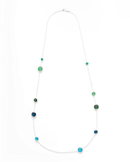 "925 Rock Candy Wonderland Lollipop Station Necklace in Taffeta, 40"""