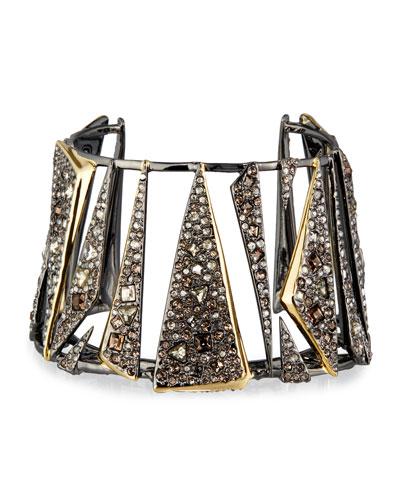 Two-Tone Crystal Cuff Bracelet