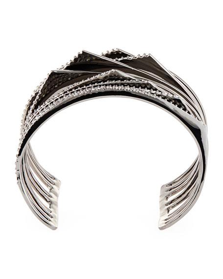 Crystal Origami Peaks Cuff Bracelet