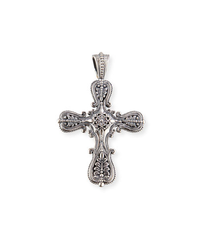 Granulated Sterling Silver Cross Pendant