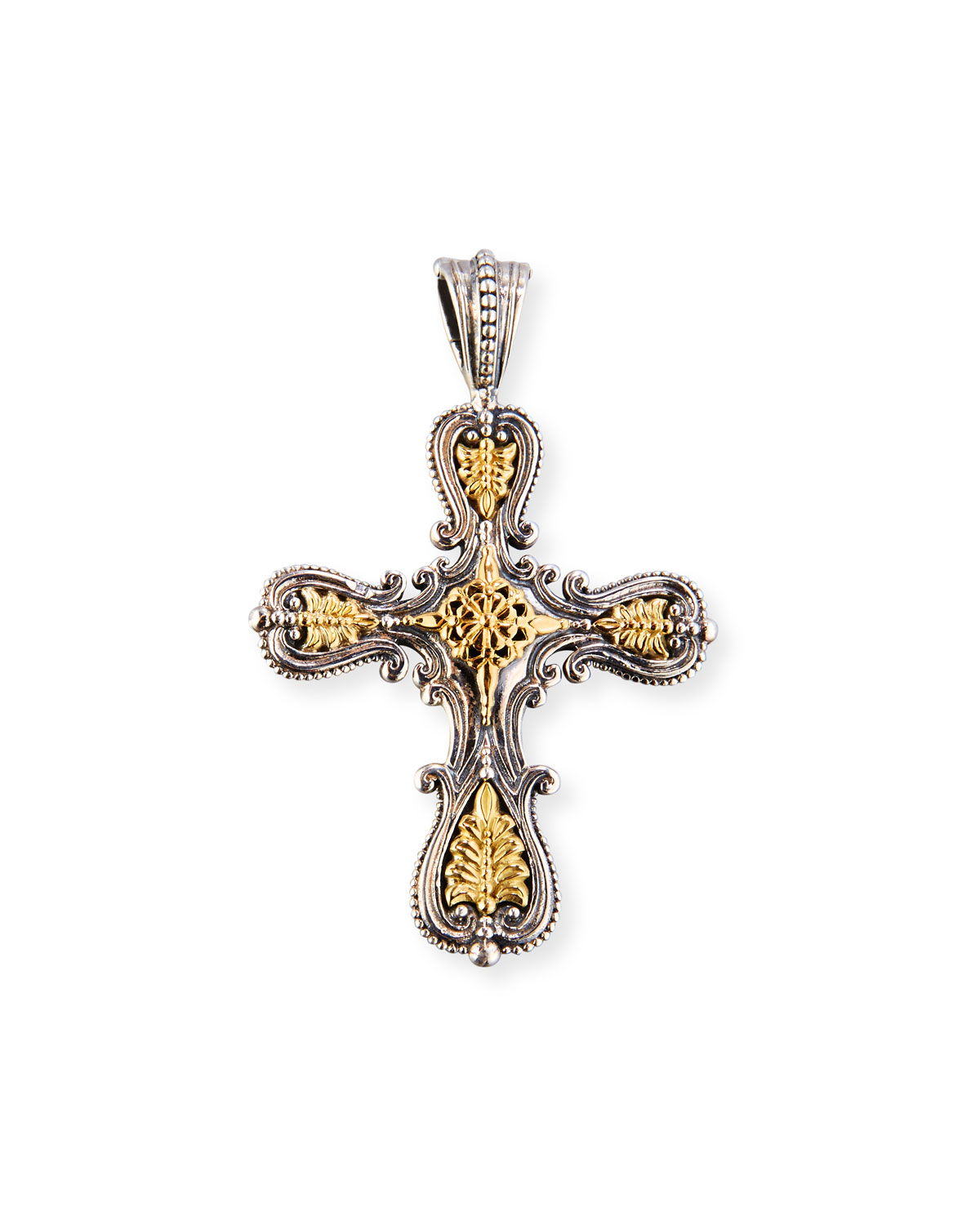 shop pendant image of sterling ctw round konstantino k gold black diamond silver product