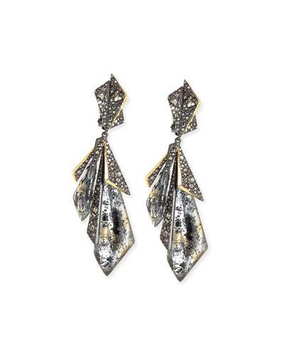 Crystal Origami Clip-On Earrings