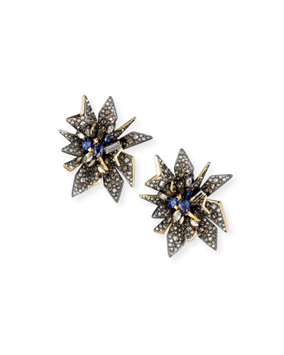 Perennial Punk Clip-On Button Earrings