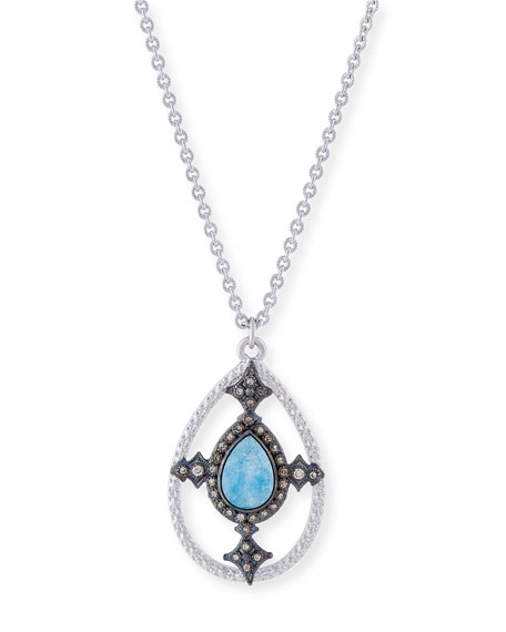 Armenta New World Blue Quartz Triplet Shield Pendant
