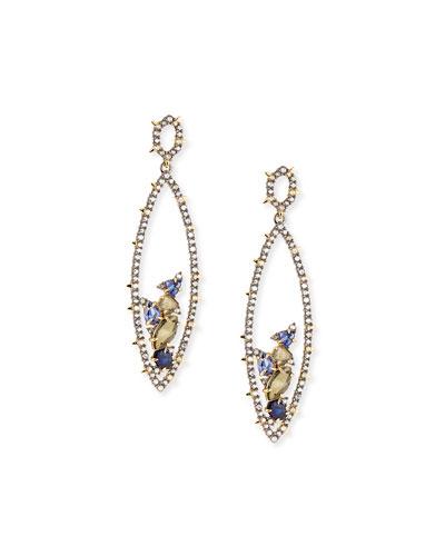Crystal Spike Drop Earrings