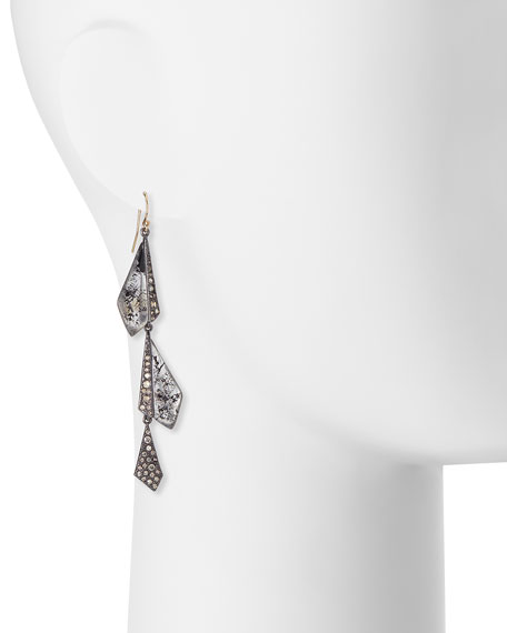 Crystal Dangling Origami Earrings
