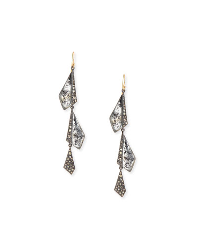 Crystal Dangling Origami Earrings