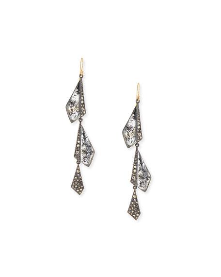 Alexis Bittar Crystal Dangling Origami Earrings