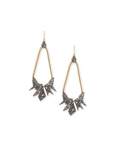 Crystal Origami Teardrop Earrings
