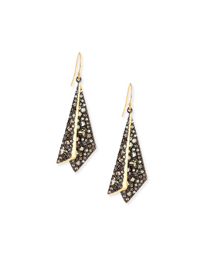 Crystal Layered Origami Earrings