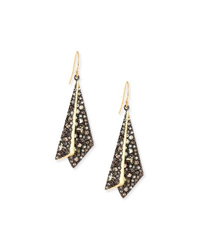 Crystal Layered Origami Earrings