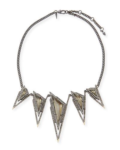 Crystal Spike Bib Necklace