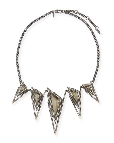 Alexis Bittar CRYSTAL BIB NECKLACE