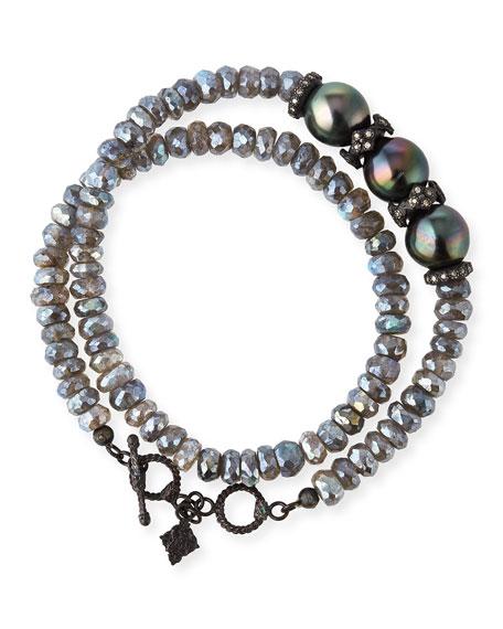 Armenta Old World Midnight Double-Wrap Beaded Bracelet