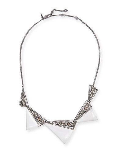 Crystal Origami Bib Necklace