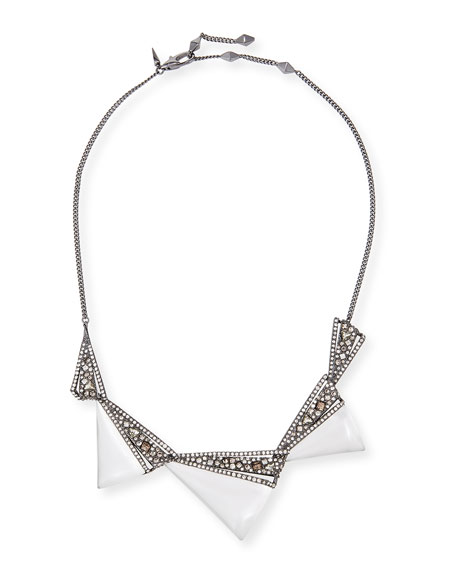 Crystal Origami Bib Necklace
