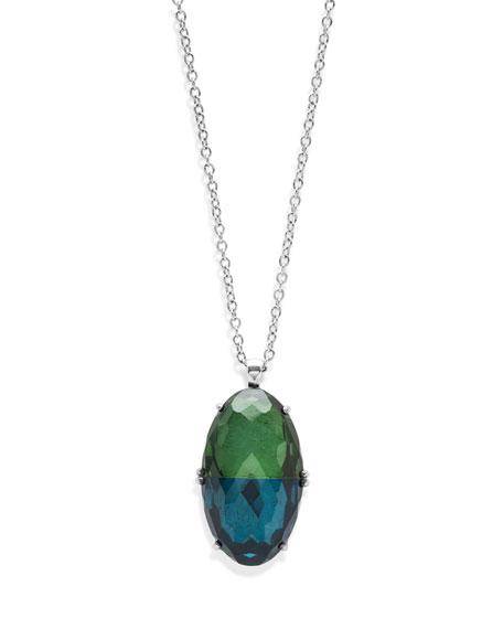 925 Rock Candy Split-Stone Pendant Necklace in Taffeta