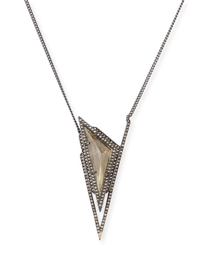 Crystal Pyramid Spike Necklace
