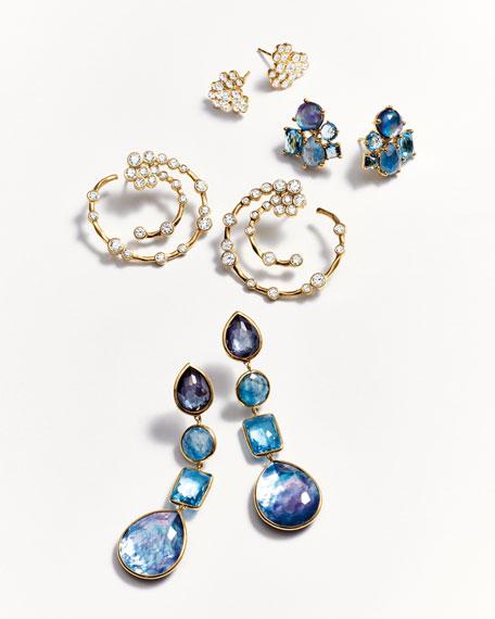 18K Rock Candy Linear Four-Drop Earrings in Midnight Rain