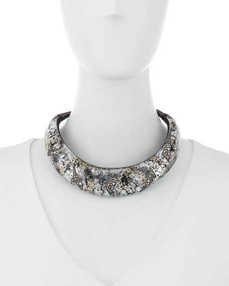 Liquid Medium Collar Necklace with Crystal Shard Detail