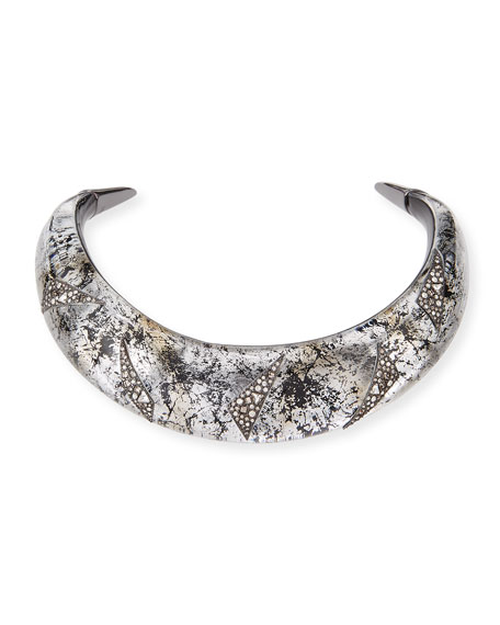 Liquid Medium Collar Necklace with Crystal Shard Detail