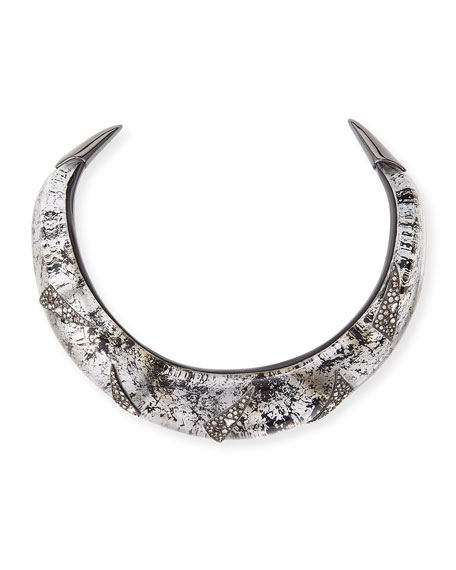 Alexis Bittar Liquid Medium Collar Necklace with Crystal