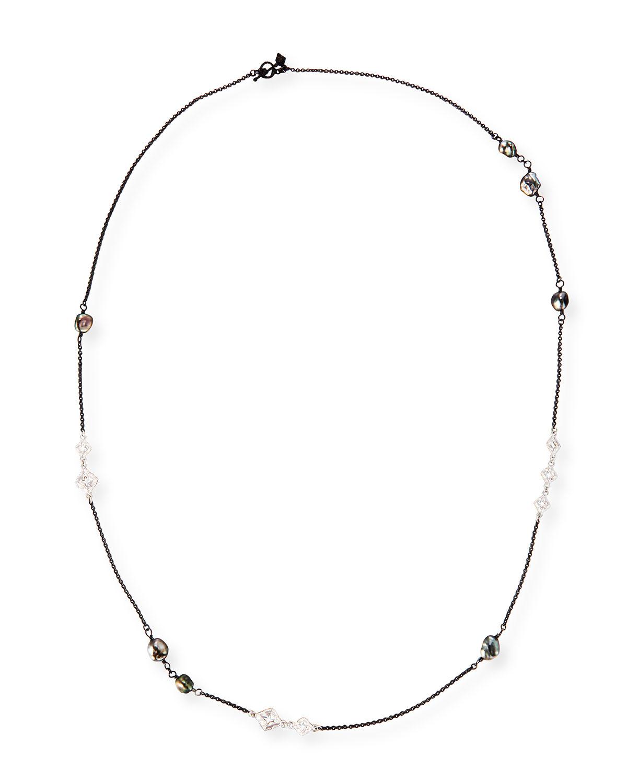 Armenta Old World Scroll Keshi Pearl Necklace, 36