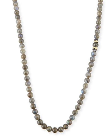 Armenta Old World Tahitian Pearl Necklace with Diamonds,