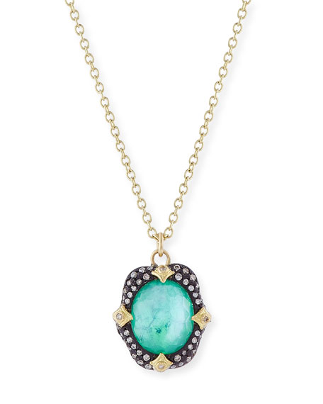 Armenta Old World Midnight Oval Crivelli Necklace with
